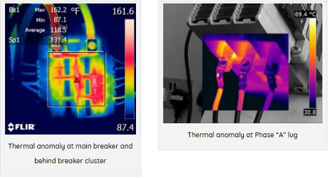 """Thermal anomaly at Phase """"A"""" lug"""